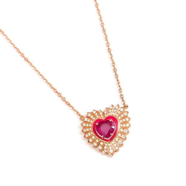 Diamond Hearts Pendant
